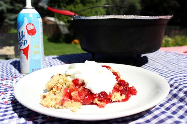 Dutch Oven Cherry Cobbler