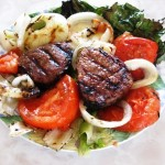 Grilled Beef Tenderloins and Vegetables