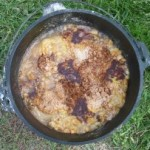Dutch Oven Apple Cobbler