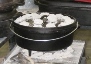 Dutch oven briquettes