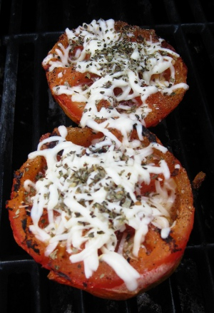 Grilled Tomatoes with Cheese
