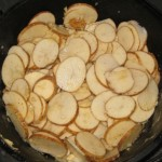 Delmonico Potatoes in Dutch oven