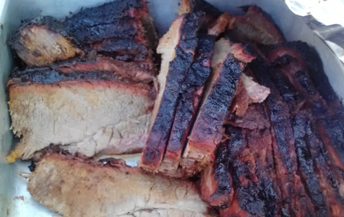 Slices of BBQ Brisket