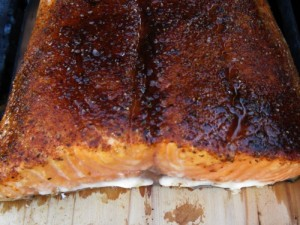 Grilled Salmon on Cedar Plank