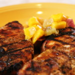 Jamaican Pork Chops with Tropical Fruit Salsa