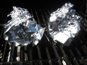 Onions in Foil on the Grill