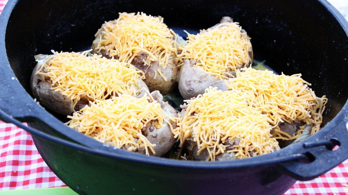 Dutch Oven Potato Boats