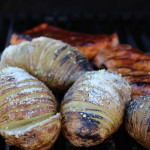 Hasselback Potatoes on the Grill