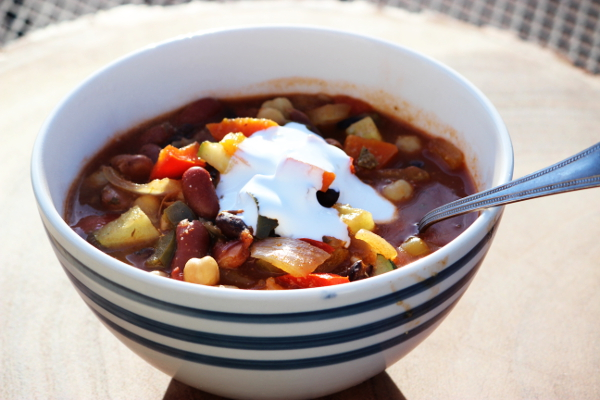 Delicious Dutch Oven Veggie Chili